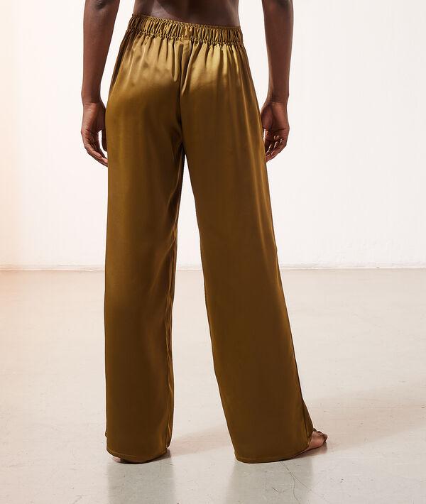 Атласные брюки-палаццо;${refinementColor}