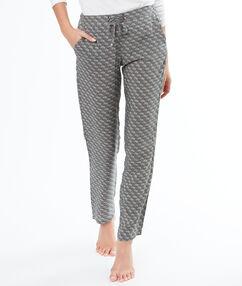 """Струящиеся брюки с принтом в стиле """"бандана"""" тёмно-оливковый."""