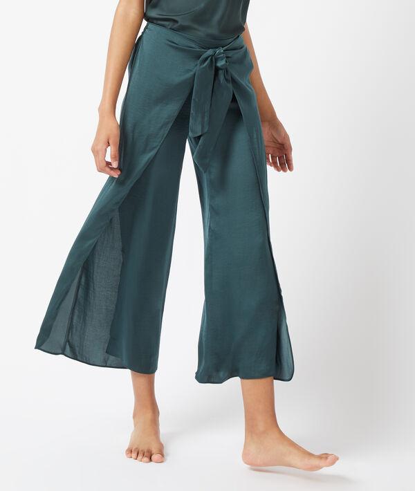 Pantalon fendu sur les côtés, noué devant - BAMBY - VERT - S
