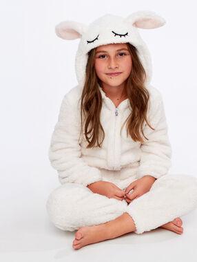 Пижама-комбинезон в виде зайчонка экрю.