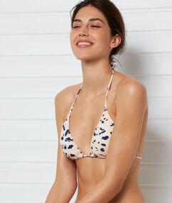 Haut de maillot de bain triangle corail.