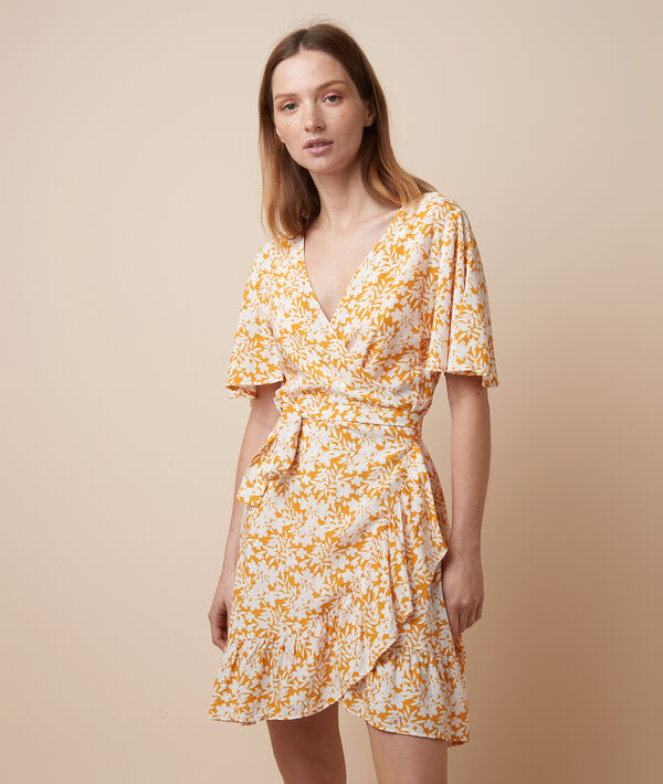Платье с цветочным принтом;${refinementColor}