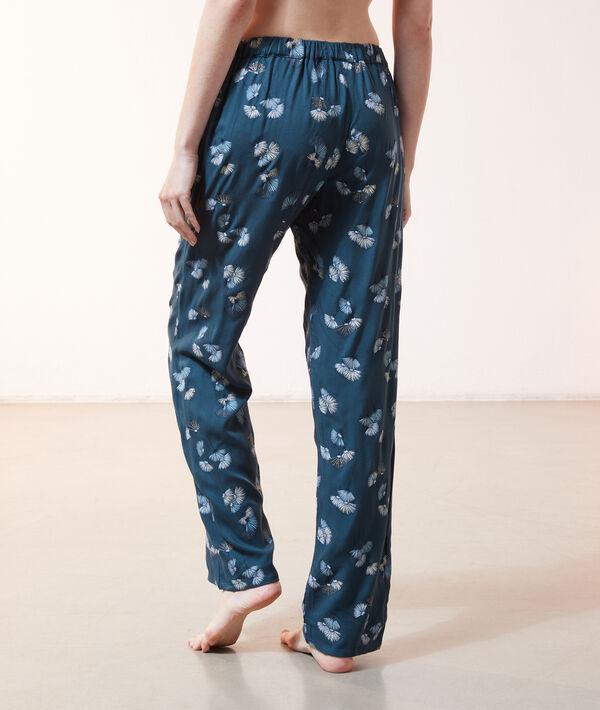 Пижамные брюки с цветочным принтом;${refinementColor}