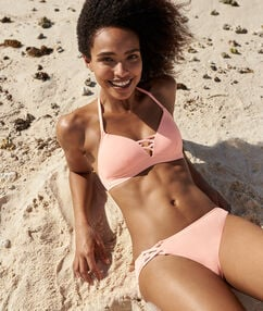 Bas de bikini simple corail.