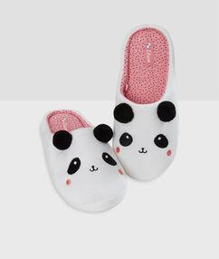 Тапочки панда белый.