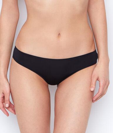 Трусы-шорты из микроволокна с тюлевой отделкой сзади черный.