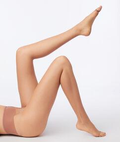 Колготки из вуали с эффектом голых ног, пальцы стопы открыты бледно-песочный.