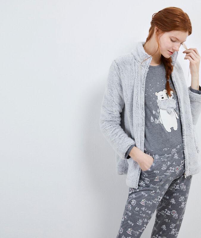 Пижама из 3 предметов с плюшевыми мишками серый.