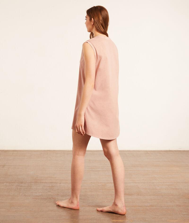Однотонное хлопковое платье-футболка;${refinementColor}