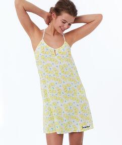 Ночная рубашка с принтом в виде лимона желтый.