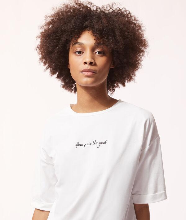 """Хлопковая футболка """"Думаю о хорошем"""";${refinementColor}"""
