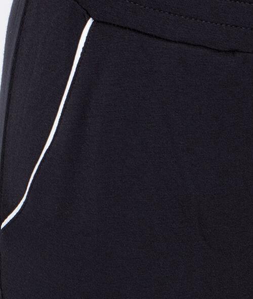 Двухцветные штаны из струящейся ткани