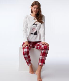 Пижама из 3 предметов с котиками  розовый.