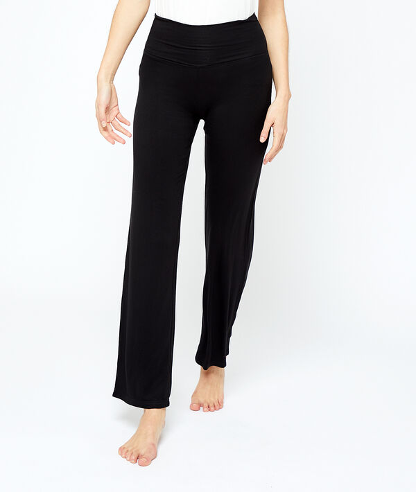 Струящиеся брюки из вискозы - AMELIA - Черный - S фото