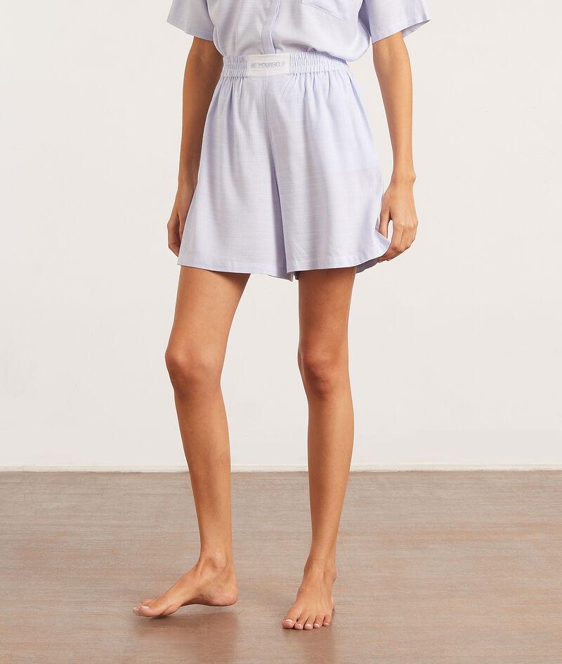 Пижамные шорты с высокой талией;${refinementColor}