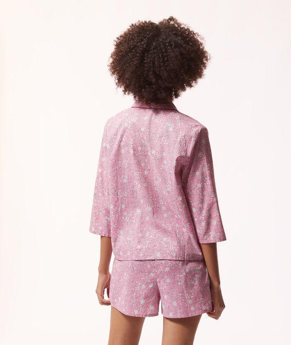 Пижамная рубашка с цветочным принтом;${refinementColor}