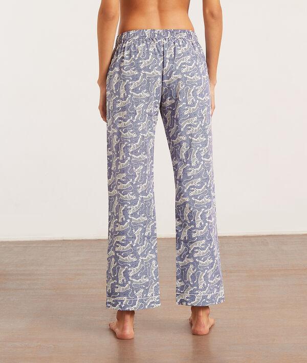 Пижамные брюки с принтом тигров;${refinementColor}