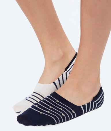 2 пары оригинальных коротких носков темно-синий.