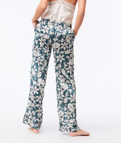 Pantalon large imprimé floral