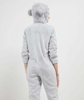 Пижама-комбинезон в виде собаки серый.