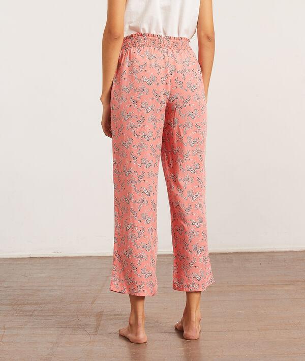 Пижамные брюки кюлот с принтом пейсли;${refinementColor}
