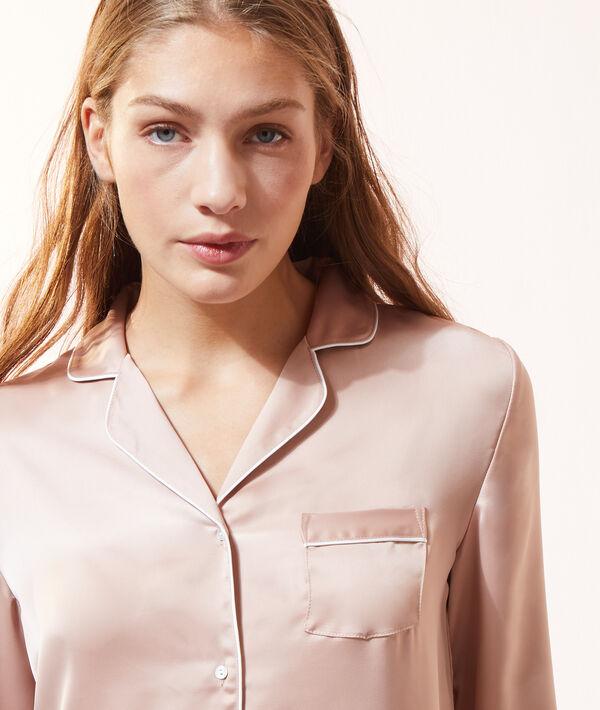 Пижамная рубашка из атласа;${refinementColor}