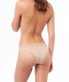 Трусики-хипстеры из двух материалов nude.