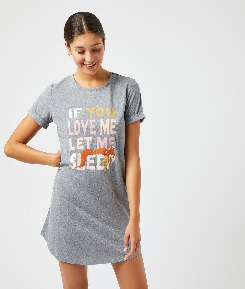 """Платье-футболка с надписью """"Если любишь, дай мне поспать"""";${refinementColor}"""