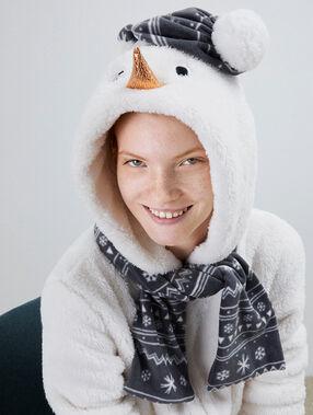Комбинезон-пижама «снеговик»  экрю.