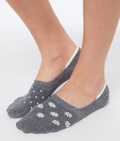 2 пары оригинальных коротких носков серый.