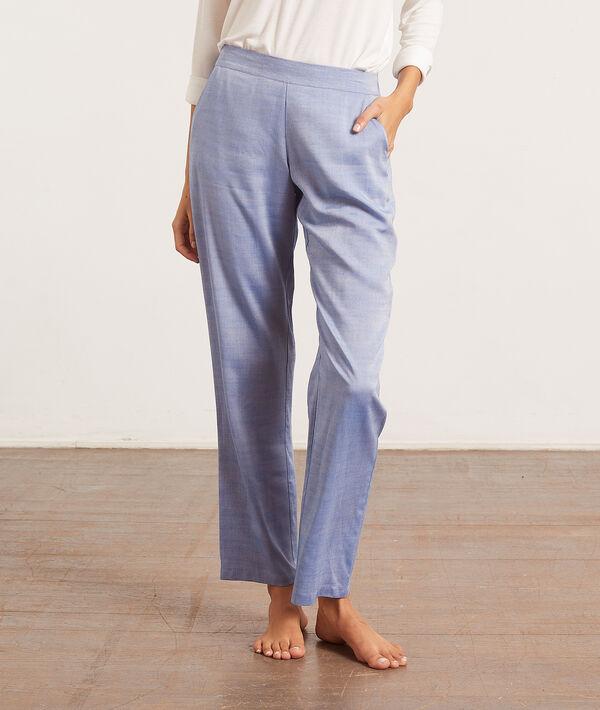 Пижамные брюки прямого кроя;${refinementColor}
