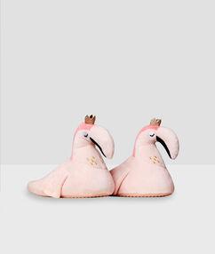 Тапочки с розовыми фламинго розовый.