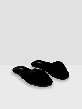 Хлопковые тапочки-вьетнамки черный.