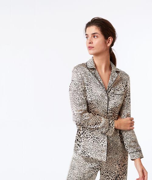 Пижамный верх с леопардовым принтом