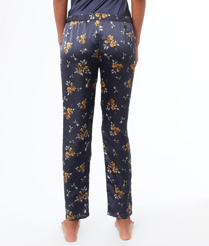 Атласные брюки с принтом;${refinementColor}