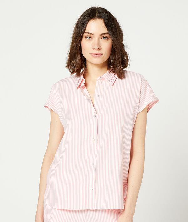 Пижамная рубашка в полоску;${refinementColor}