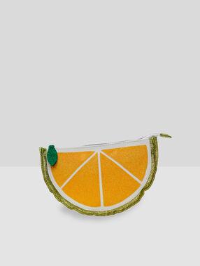 Косметичка лимонного цвета желтый.