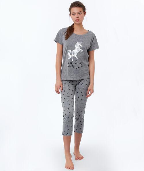 Короткие штаны с принтом в виде единорогов
