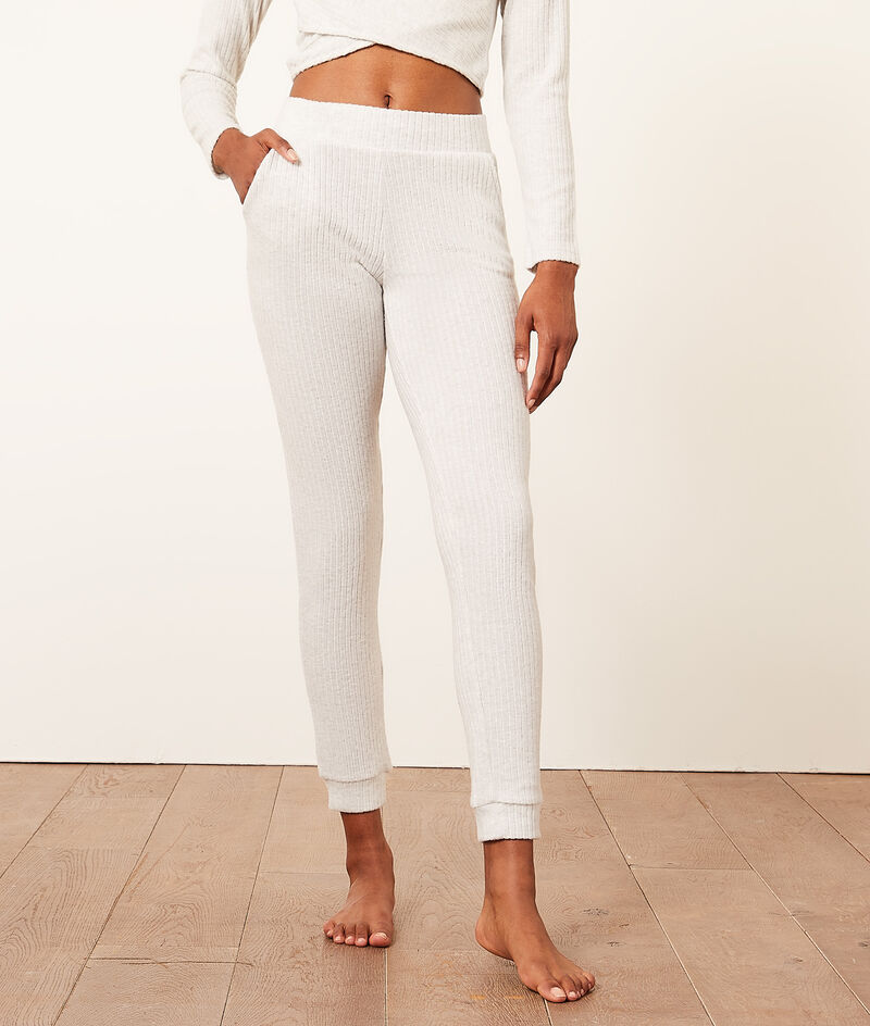 Трикотажные брюки в рубчик;${refinementColor}