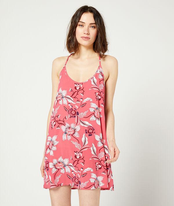 Платье-сорочка с цветочным принтом;${refinementColor}