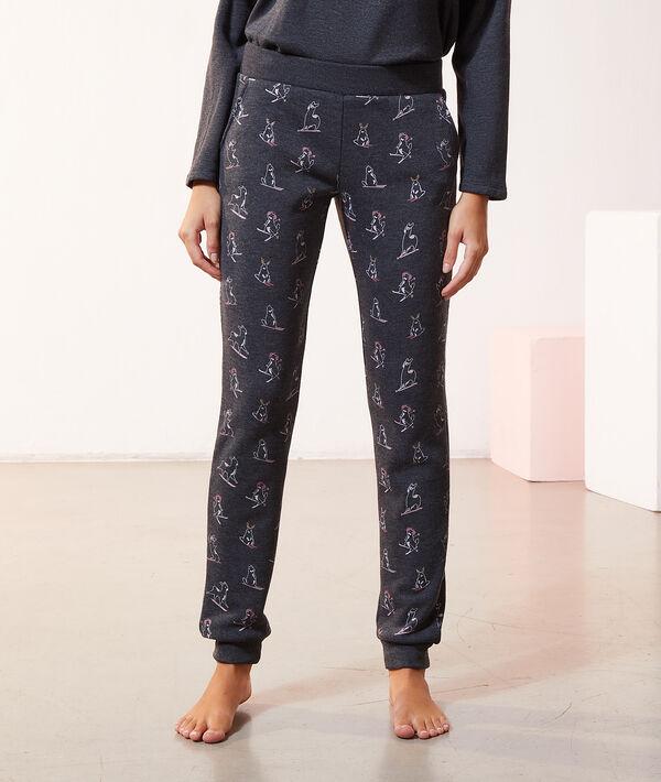 Пижамные брюки с принтом зверят;${refinementColor}