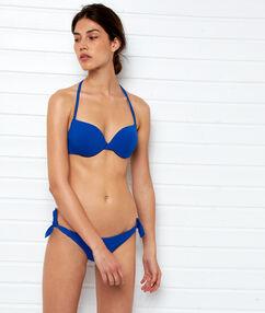 Трусики-бикини бразилиана — высокая линия бедра королевский синий.