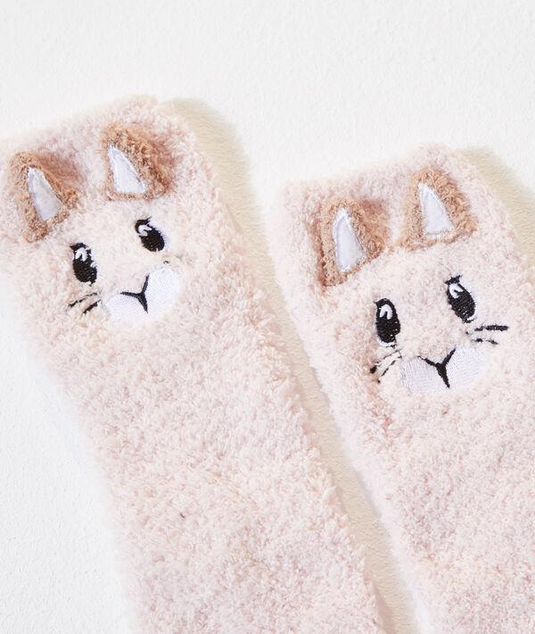 Плюшевые носочки с вышивкой в виде белок;${refinementColor}
