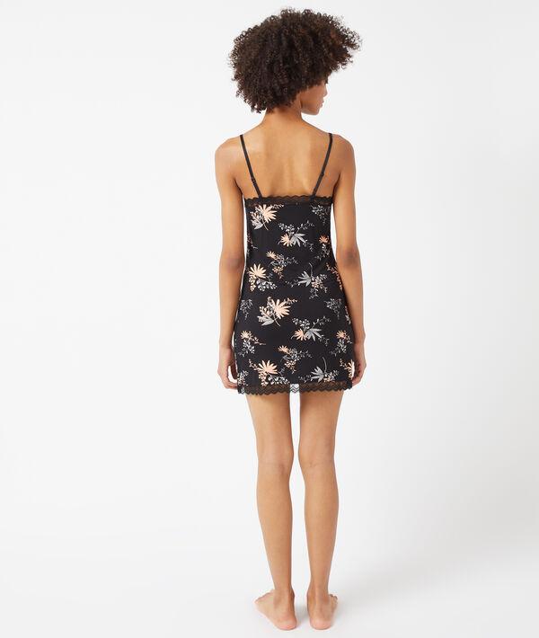 Платье в бельевом стиле с цветочным принтом;${refinementColor}