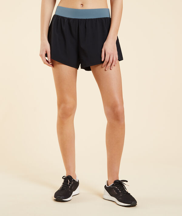 Двухслойные спортивные шорты с дизайном color block;${refinementColor}