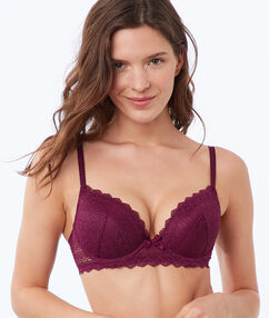 Soutien-gorge n°1 - magic up grenat.
