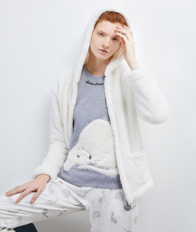 Пижама из 3 предметов с курткойй белый.