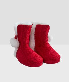 Тапочки-сапожки на меху rouge.