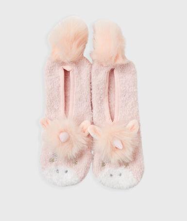 Мягкие оригинальные тапочки «животные» розовый.