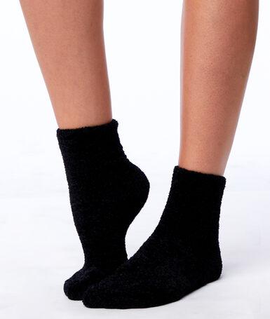 Chaussettes douces noir.